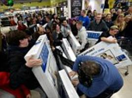 Mayhem as Black Friday begins: Shoppers clash in supermarkets while trying to grab bargains after Boots, Game and Curry's PC world websites crash as thousands start hunt for Christmas deals