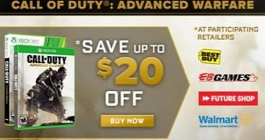 Call of Duty: Advanced Warfare Gets 20 Dollar (15 Euro) Off Promotion, 10 Hours Double XP